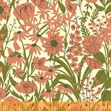 Load image into Gallery viewer, Mazy, Wild in Peony by Dylan Mierzwinski, per half-yard
