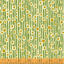 Load image into Gallery viewer, Mazy, Sunflower in Clover by Dylan Mierzwinski, per half-yard