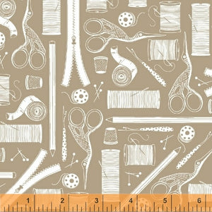 Crafters Gonna Craft, Tools - Tan, per half-yard