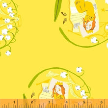 Load image into Gallery viewer, Far Far Away 2, Sleeping Beauty in Yellow, by Heather Ross for Windham Fabrics, per half-yard