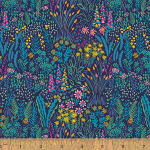 Solstice, Meadow - Dark by Sally Kelly, per half-yard