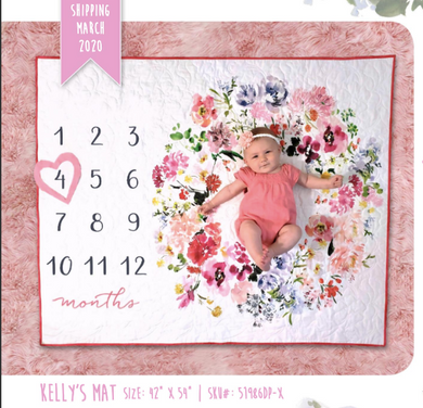 Baby Milestone Mats Collection, Kelly Baby Mat by Kelly Ventura for Windham Fabrics