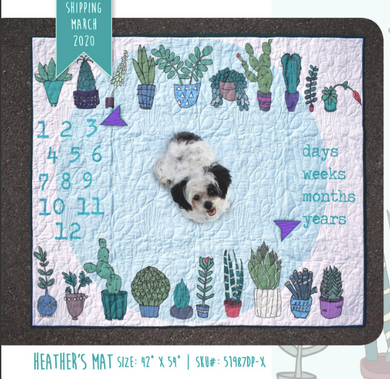 Baby Milestone Mats Collection, Heather Baby Mat by Heather Givans for Windham Fabrics