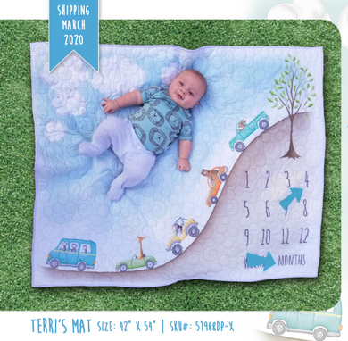 Baby Milestone Mats Collection, Terri Baby Mat by Terri Dekengolb for Windham Fabrics