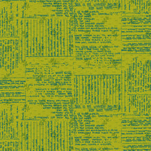 Load image into Gallery viewer, Norma Rose, Recipe Cards in Acid Green by Natalie Barnes, per half-yard