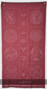 Olympus X Susan Briscoe Sashiko Panel - Family Crests (Avail in 6 Col)