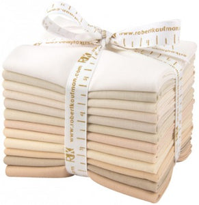 Bundle (select size) Kona Cotton: Not Quite White palette, 12 pcs