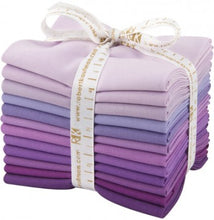 Load image into Gallery viewer, Bundle (select size) Kona Cotton: Lavender Fields palette, 12 pcs