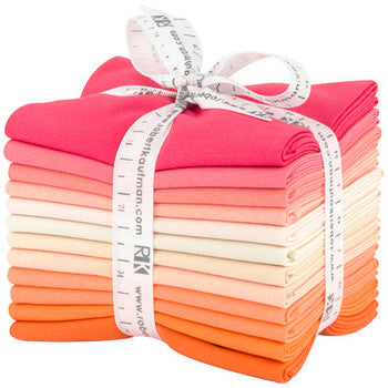 Bundle (select size) Kona Cotton: Melon Ball palette, 12 pcs