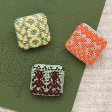 Olympus Japanese Kogin Square Buttons Kit #68