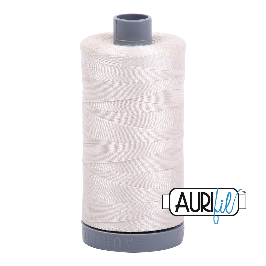 Aurifil 28wt Thread - Silver White #2309