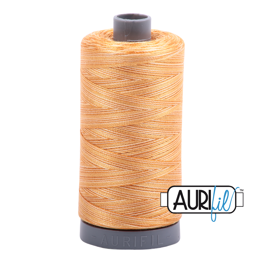 Aurifil 28wt Thread - Creme Brule - Variegated #4150