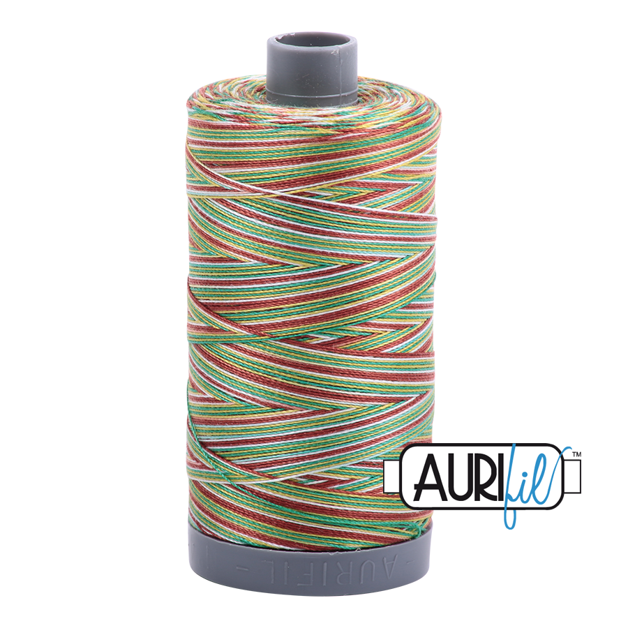 Aurifil 28wt Thread - Leaves - Variegated #4650