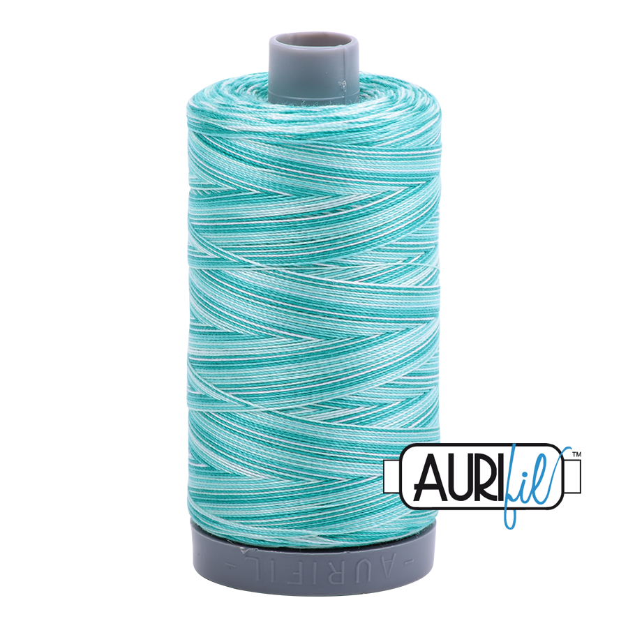 Aurifil 28wt Thread - Turquoise Foam - Variegated #4654