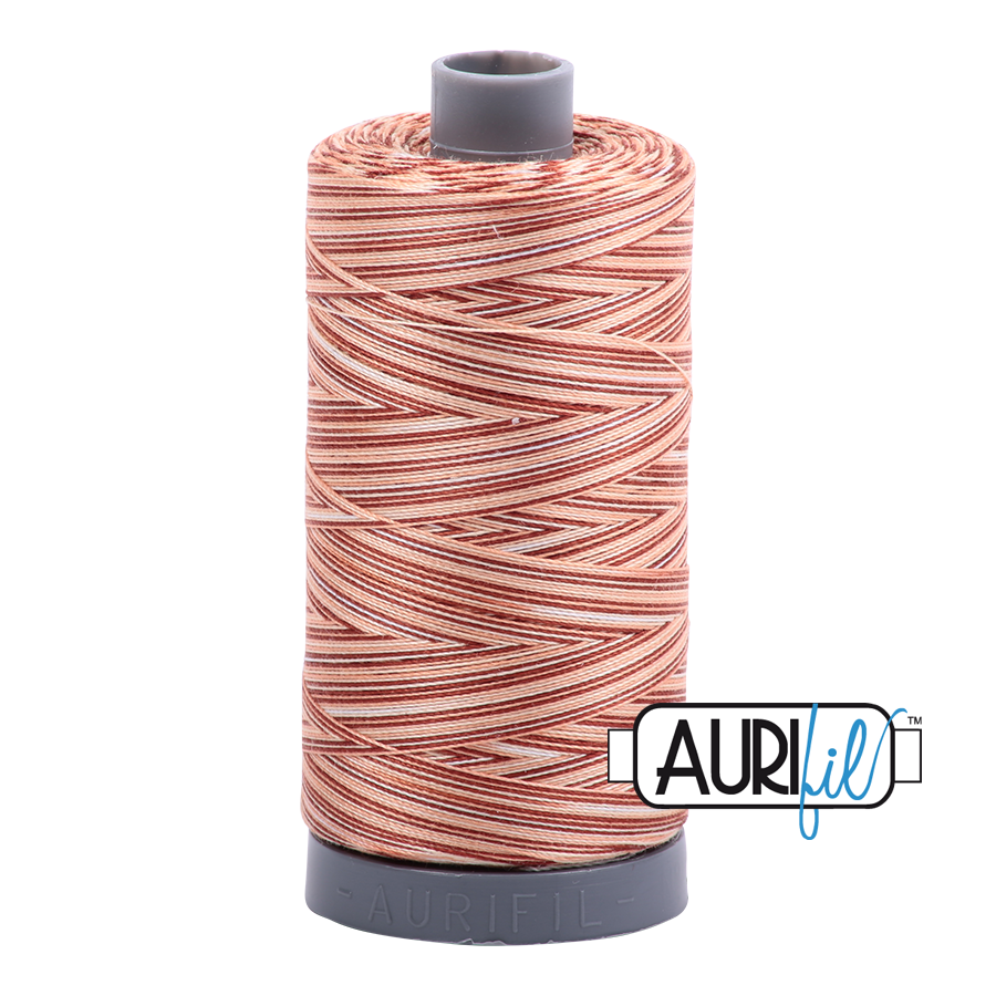 Aurifil 28wt Thread - Cinnamon Sugar - Variegated #4656