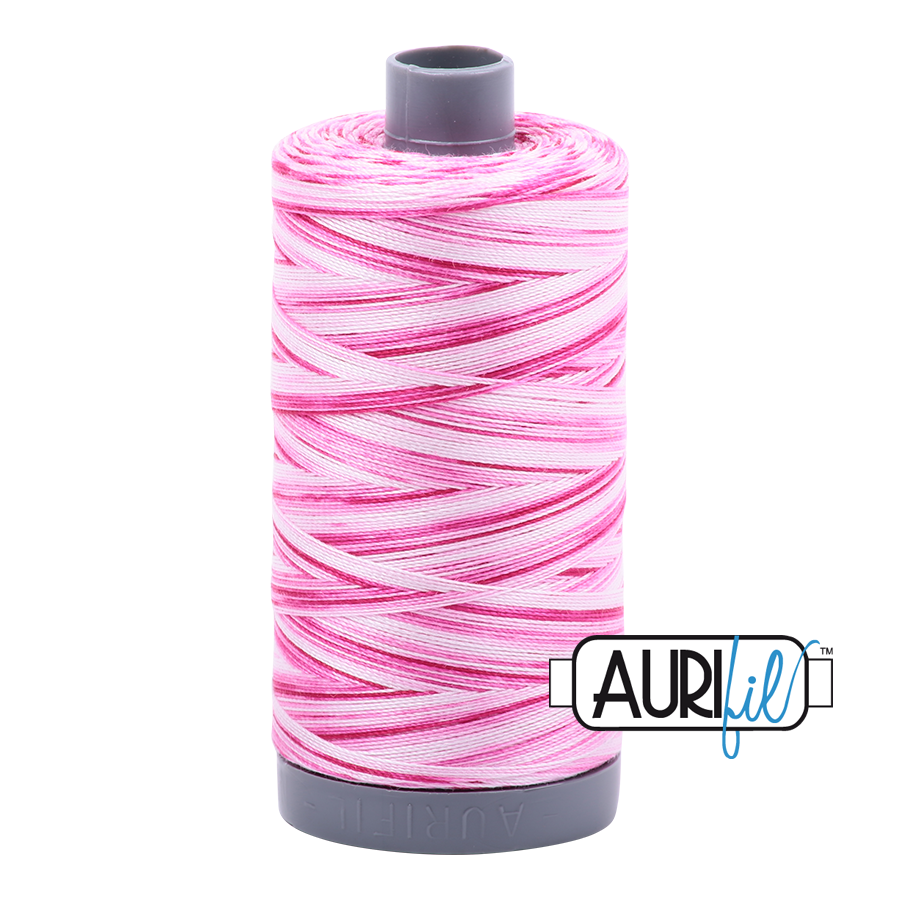 Aurifil 28wt Thread - Pink Taffy - Variegated #4660