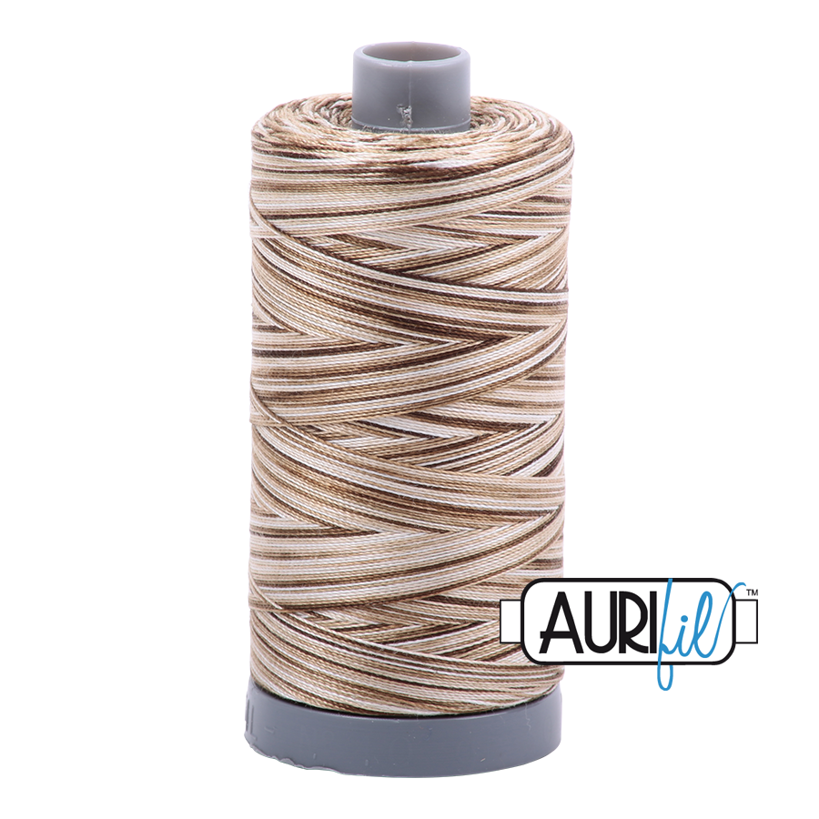 Aurifil 28wt Thread - Nutty Nougat - Variegated #4667