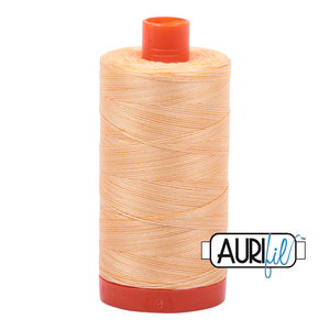 Aurifil 50wt Thread - Large spool Golden Glow - Variegated #3920