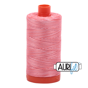 Aurifil 50wt Thread - Large spool Flamingo - Variegated #4250