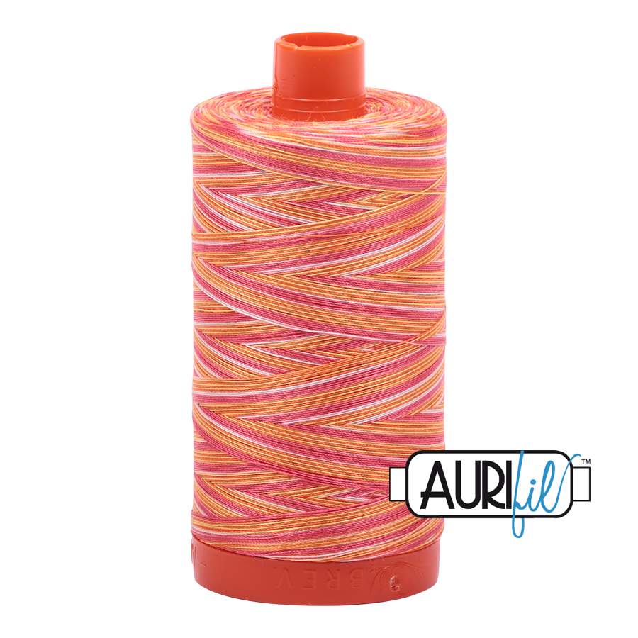Aurifil 50wt Thread - Large spool Tramonto to a Zoagli - Variegated #4657