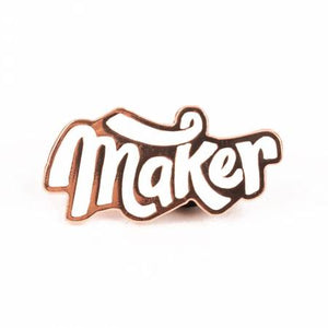 Maker Enamel Pin, Maker Valley