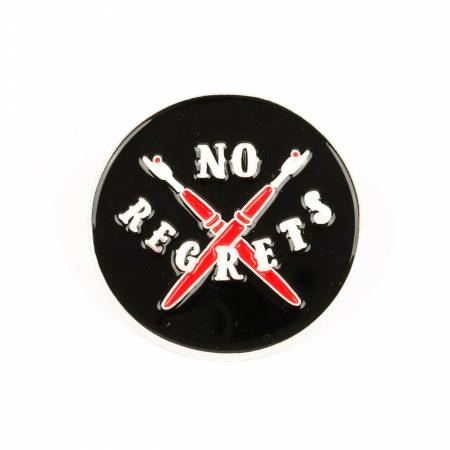 No Regrets Enamel Pin, Maker Valley