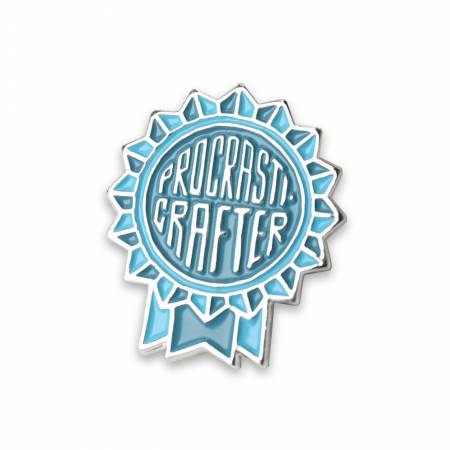 Procrasticrafter Enamel Pin, Maker Valley