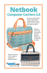 Netbook Computer Carriers 2.0, Patterns by Annie
