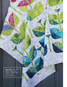 Norma Rose, Trellis - Turquoise by Natalie Barnes, per half-yard