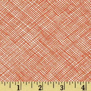 "Widescreen 108"" Wide Quilt Back, Flame, per half-yard"