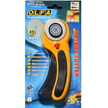 Load image into Gallery viewer, *Bundle Deal* OLFA 45mm Deluxe Rotary Cutter (RTY-2/DX) + Wave Blade (WAB45-1) Bundle