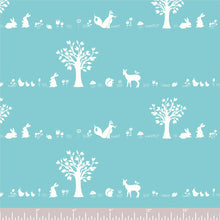 Load image into Gallery viewer, Storyboek Drie, Forest Friends Aqua in Knit, per half-yard