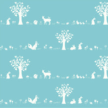 Load image into Gallery viewer, Storyboek Drie, Forest Friends Aqua, per half-yard
