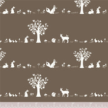Load image into Gallery viewer, Storyboek Drie, Forest Friends Brown in Knit, per half-yard