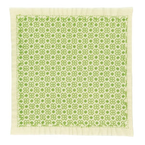 Olympus #SK-363 Japanese Sashiko Hitomezashi, Hana-Fukin Sashiko Sampler - Linked Crosses (Cream)