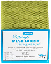 "Load image into Gallery viewer, Lightweight Mesh Fabric from ByAnnie - 18"" X 54"" (Choose Colour)"