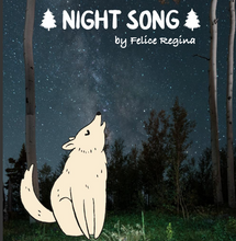 Load image into Gallery viewer, Night Song, Forest in Night, per half-yard