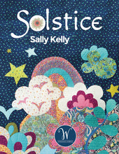Load image into Gallery viewer, Solstice, Clover - Lime by Sally Kelly, per half-yard