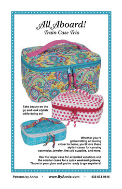 All Aboard! Train Case Trio, Patterns by Annie