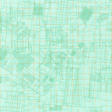 Collection CF, Euclidean in Mint, per half-yard