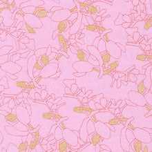 Load image into Gallery viewer, Collection CF, Flora in Petal (Gold Metallic), per half-yard