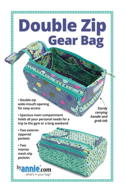Double Zip Gear Bags, Patterns by Annie