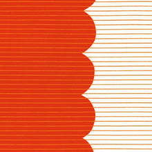 Load image into Gallery viewer, Harriot, Scallop Single Border in Tangerine, per half-yard