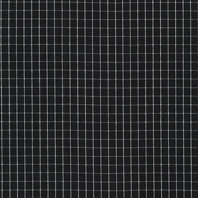 Harriot, Thin Check Yarn Dyed in Black, per half-yard