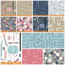 Load image into Gallery viewer, Crafters Gonna Craft by Whistler Studios, 12 prints Fat Quarter (Last Bundle)