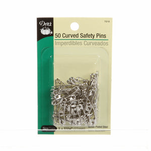 Dritz Curved Safety Pins 1 1/16in, Size 1, 50ct
