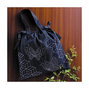 Olympus #SK-257 Japanese Sashiko Shoulder Bag Kit (Butterfly and Parquet)