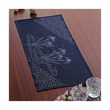 Ready To Stitch ** Olympus #SK-260 Japanese Sashiko Table Runner Kit – Ayame and Well Frame