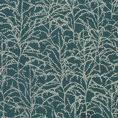 Winter Shimmer, Evergreen Branches, per half-yard (with Metallic Accents)