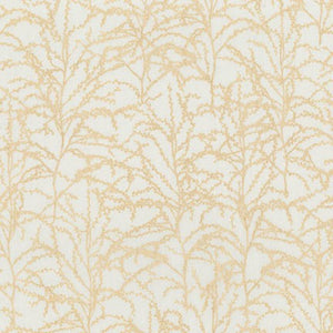 Winter Shimmer, Oyster Branches, per half-yard (with Metallic Accents)